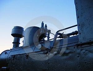 Locomotiva de vapor velha Foto de Stock
