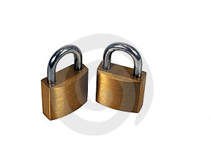Brass Padlocks Stock Images