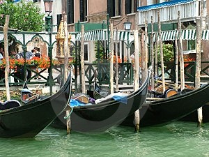 Gondolas Royalty Free Stock Photography