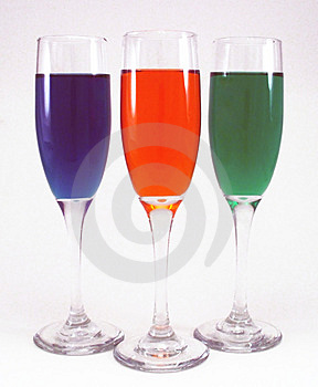 Colors in Glass Stock Photography