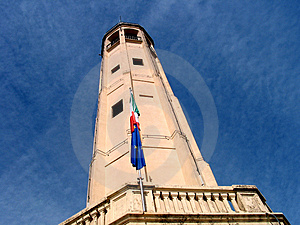 Tower In Blue Sky Stock Image