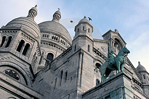 Beautiful Sacre Coeur In Paris Stock Photos