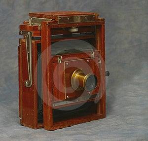 fotocamera grande formato di legno 5X7 Immagini Stock