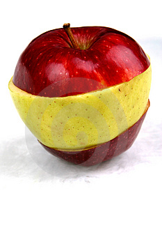 Red Crossbred Apple Free Stock Photography