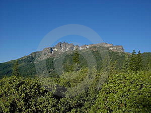 Buttes and blue sky Royalty Free Stock Photos