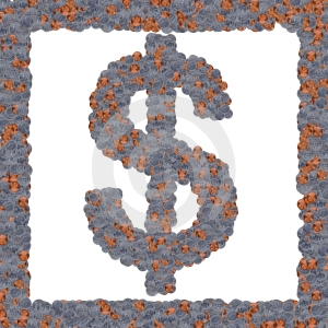Symbol Many Coins Stock Photography - Image: 604162