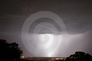 Large Lightning Bolt Royalty Free Stock Photo
