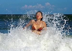 Wave Hit Royalty Free Stock Photos - Image: 6000168