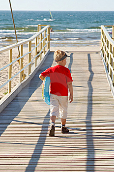 Little Boy With A Buoy Stock Photos - Image: 6003013
