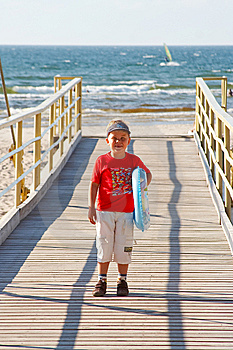 Little Boy With A Buoy Stock Photos - Image: 6003023