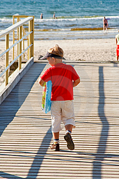 Little Boy On A Bridge Royalty Free Stock Photo - Image: 6003035