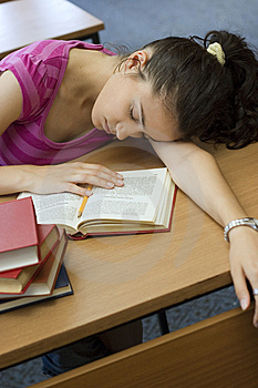 Young Beautiful Student In College Royalty Free Stock Image - Image: 6003426