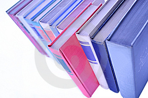 Fileira Dos Livros Alinhados Na Fileira Fotografia de Stock - Imagem: 6007282