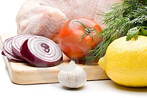 Fresh Chicken With Vegetables Royalty Free Stock Image - Image: 6008616
