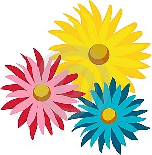 Three Nice Flowers (vector) Stock Image - Image: 6009311