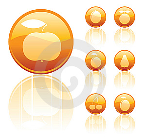 Fruits Icons Royalty Free Stock Photos - Image: 6011568