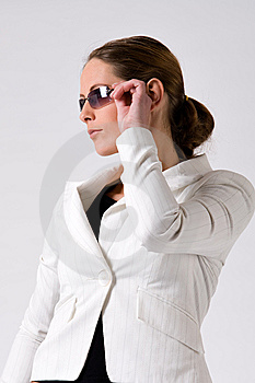 Sturdy Girl With Sunglasses Royalty Free Stock Photo - Image: 6014155