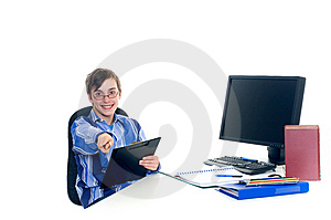 Teenager Student Doing Homework Stock Photos - Image: 6016203