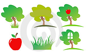 Nature Icon Set Royalty Free Stock Images - Image: 6016899