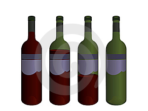 Wine Bottles Royalty Free Stock Images - Image: 6017769