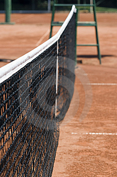 Tennis Net On The Tennis Clay Court Royalty Free Stock Photos - Image: 6018508