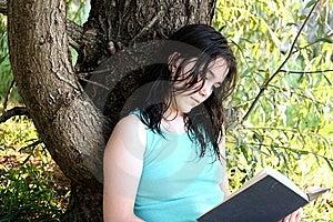 jonge vrouwenlezing Royalty-vrije Stock Afbeeldingen