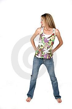 Full Length Attitude Teen Royalty Free Stock Photos - Image: 6023318