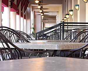 Empty Tables Royalty Free Stock Image - Image: 6023876