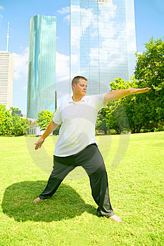 Downtown Yoga Stock Photo - Image: 6025370