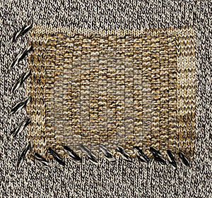 Grey Knitted Fabric Royalty Free Stock Photo - Image: 6028495