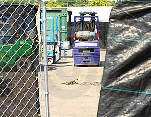 Mover Behind Gate Royalty Free Stock Photography - Image: 6030887