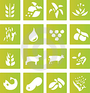 Green Farming Crop Icons Royalty Free Stock Photo - Image: 6032235