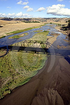 Bridge Over River In Middle Of Nowhere Stock Photos - Image: 6033813