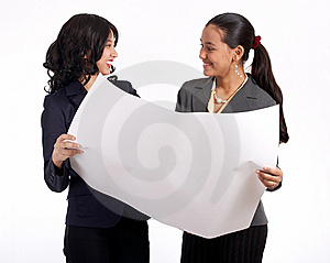 Two businesswoman working Royalty Free Stock Photo