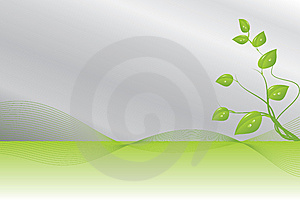 Green And Silver Background Royalty Free Stock Image - Image: 6035446