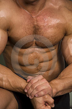 Close-up of an athletic torso Stock Photography