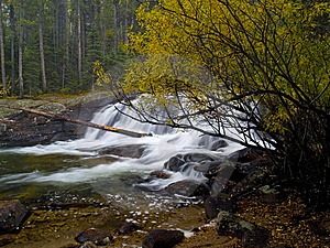 Autumn And Waterfall Royalty Free Stock Photography - Image: 6038577