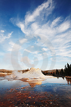 Castle Geyser Royalty Free Stock Photography - Image: 6040027