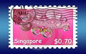 Singapore Stamp Postage Stock Photos - Image: 6040753