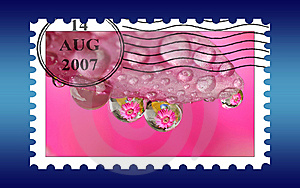 Unname Used Stamp Royalty Free Stock Photo - Image: 6040955