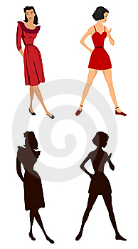 Women Illustrations Royalty Free Stock Images - Image: 6041589