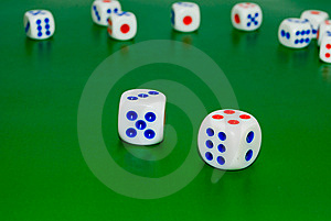 Cubes For Gambling Stock Photography - Image: 6042022