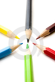 Colorful Pencils Royalty Free Stock Images - Image: 6044769