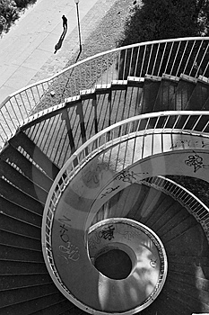 Winding Stairway Royalty Free Stock Image - Image: 6045236