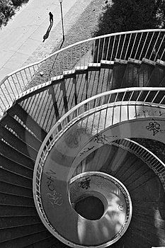 Winding Stairway Royalty Free Stock Image - Image: 6045236