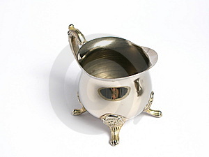 Two Silver Chromed Sugar Basin Stock Photography - Image: 6050172