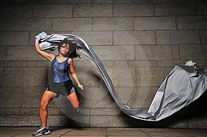 Mädchen In Bewegung 6 Stockbilder - Bild: 6050544
