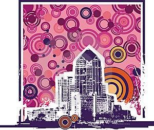 Cityscape Background Royalty Free Stock Images - Image: 6055449