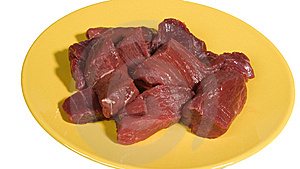 Pieces Of Raw Beef Stock Photo - Image: 6055480