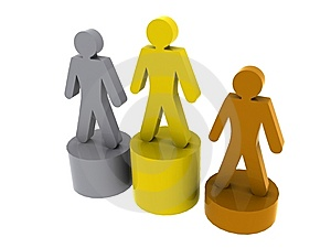 Podium Winners Royalty Free Stock Photography - Image: 6055757